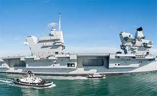 英国最先进航母进行第二次海试