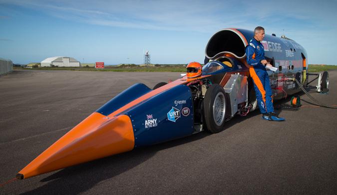 世界超速大师安迪·格林将挑战陆地最快世界纪录