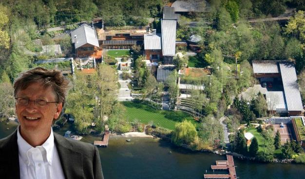 揭秘盖茨1.24亿美元豪宅 这些秘密鲜为人知