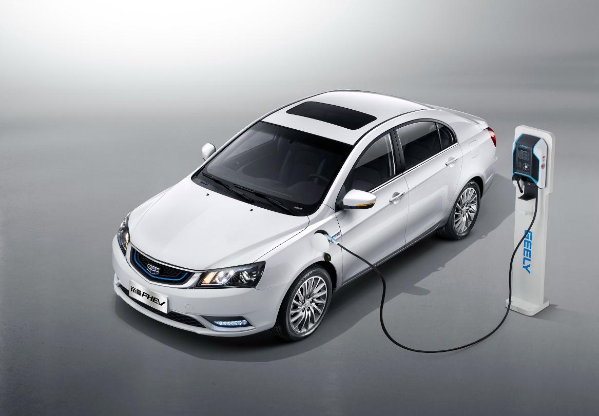 联擎超强插电混动轿车帝豪PHEV实车到店 预售价13-15万