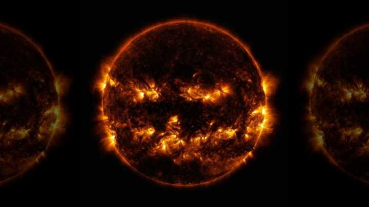 """NASA公布""""南瓜灯""""太阳照片 庆祝万圣节"""