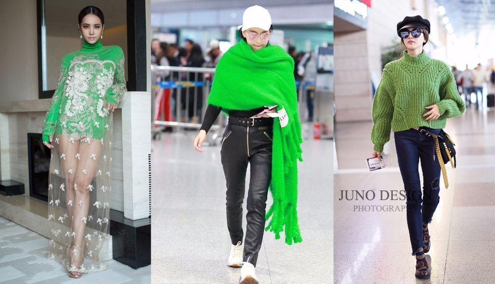 肤色不够白千万不要穿果绿色,否则你就是下一个蔡依林