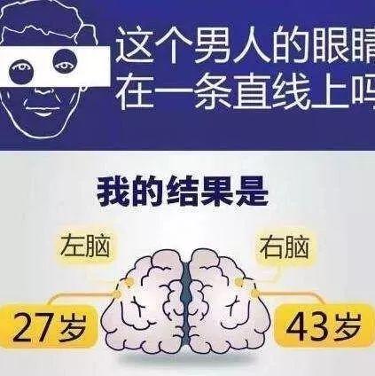 """朋友圈刷屏的""""左右脑年龄测试""""不靠谱!这5件事才加速你大脑衰老!"""