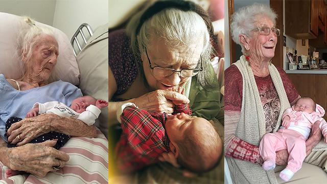 病危老人第一次见到孙子 画面令人动容