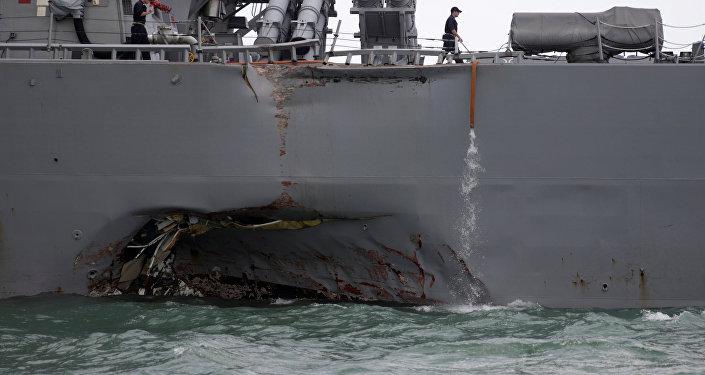 美海军公布军舰相撞报告:多次失误本能避免