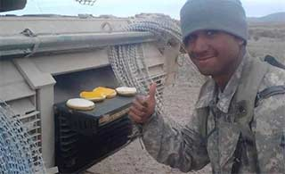 美制M1坦克变身战场厨房?