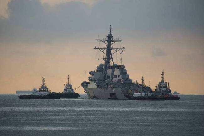 """美军报告:撞船事故都因""""人祸"""" 舰员严重失职"""