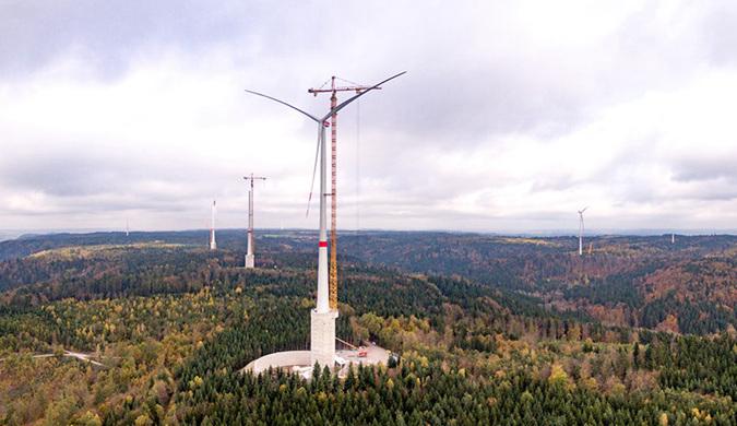 德国建设世界上最高的风力发电机 明年加入电网
