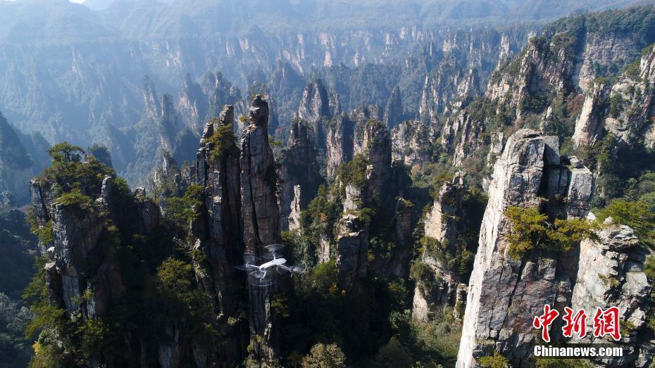 鸟瞰中国 绝美武陵源