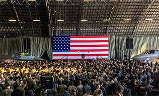 特朗普抵日 部署日本F35战机亮相