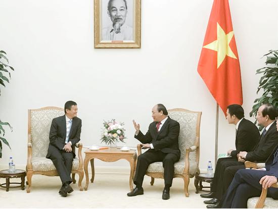 越南总理阮春福对话马云:点燃年轻人的创业激情
