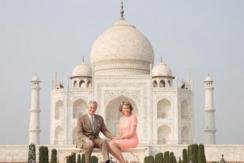 比利时国王夫妇参观泰姬陵 浪漫合影