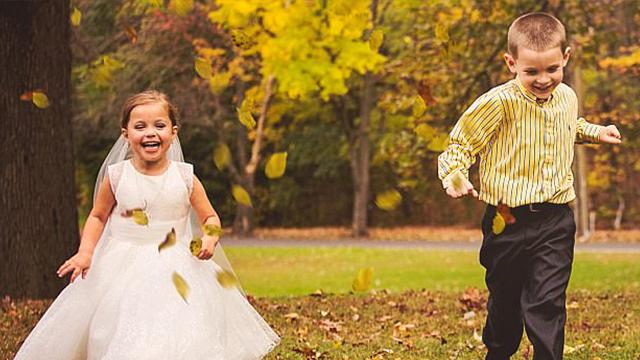 """美国女童患心脏病 术前拍婚纱照""""嫁""""心上人"""
