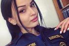 俄女警自拍竞选最美警官