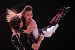 俄喀山杂技摇滚舞比赛 青年选手表演