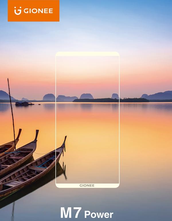 金立无边框手机M7 Power即将在印度发售