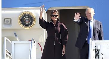 特朗普抵达韩国 开启亚洲行第二站