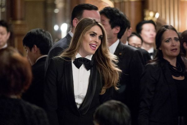 特朗普出席日本国宴 白宫通讯主任貌美抢镜
