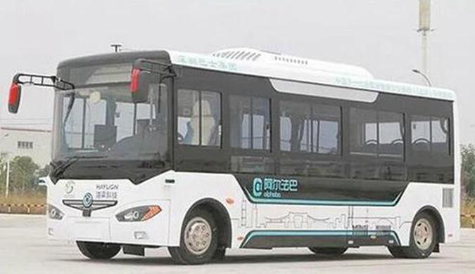 中国全球首创无人驾驶电动公交:一次跑150公里