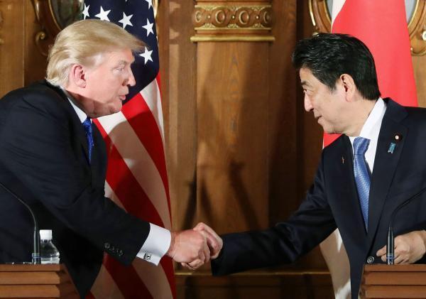 """特朗普首访亚太丨首站日本,美日首脑就""""印太""""构想达成一致"""