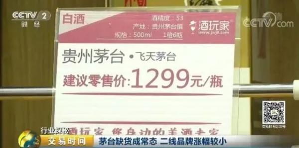 茅台再逆天:多地出现断货 单瓶价格涨幅近300元