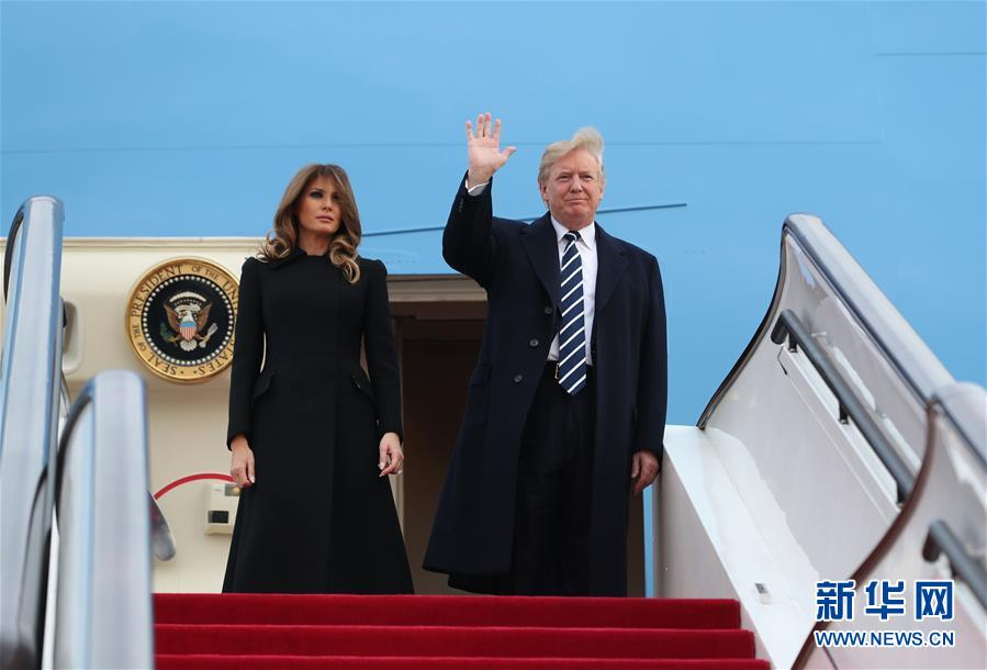 美国总统特朗普抵京访华