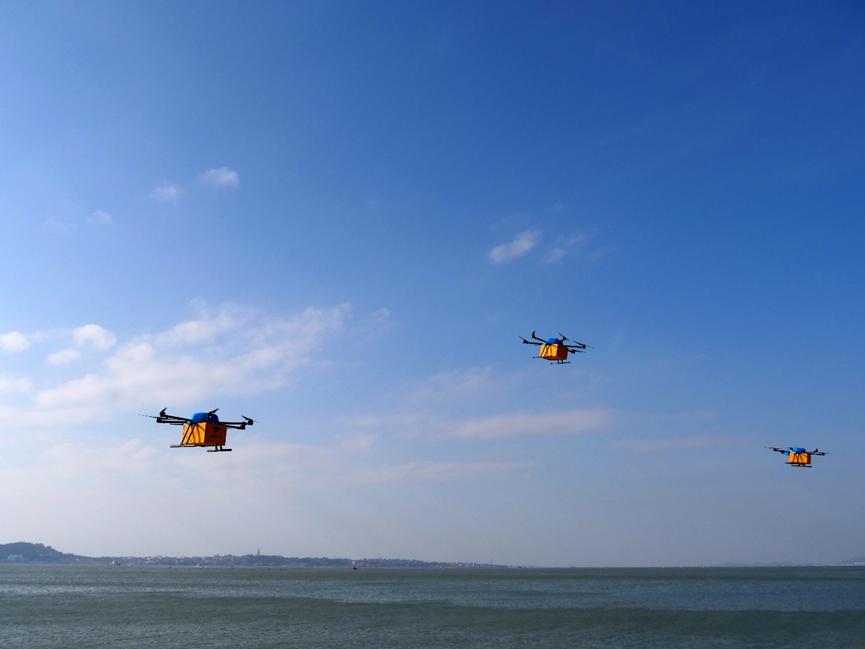 天猫双11要上天 为了6箱水果用无人机跨海快递