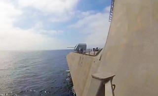 美军超科幻三体濒海战斗舰主炮开火秀武力