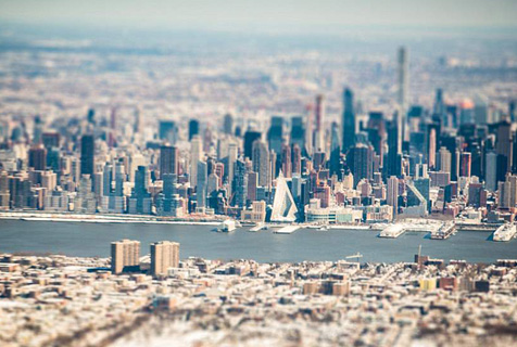 移轴摄影:微型纽约市令人眼花缭乱