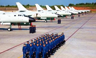 从轰-6K航迹感受中国空军这68年