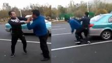 两司机因占道停车上演全武行
