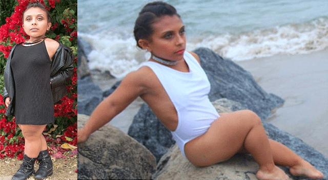 美国最励志袖珍模特身高1米 呼吁性感无身高限制