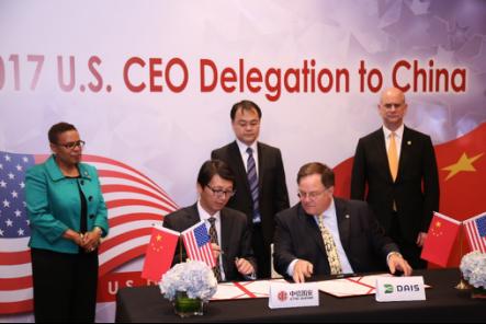 中信国安-国安瑞与美国DAIS公司签署技术合作备忘录