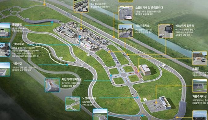 """韩国建造了一个测试自动驾驶汽车的""""城市"""""""