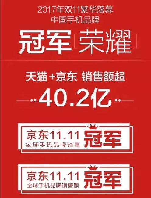 超越苹果 双11中国手机品牌冠军荣耀更受年轻人喜欢
