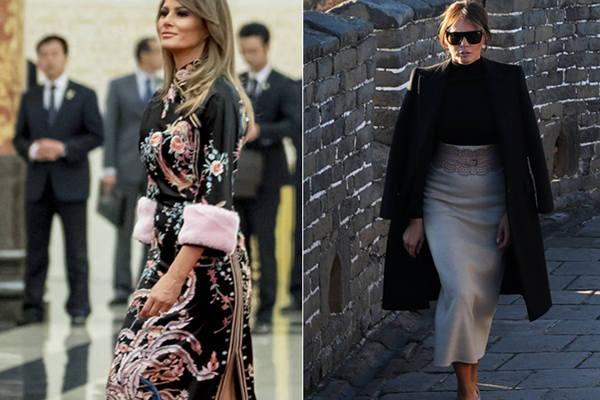 """美""""第一夫人""""亚洲行着装盘点 中式旗袍抢眼"""