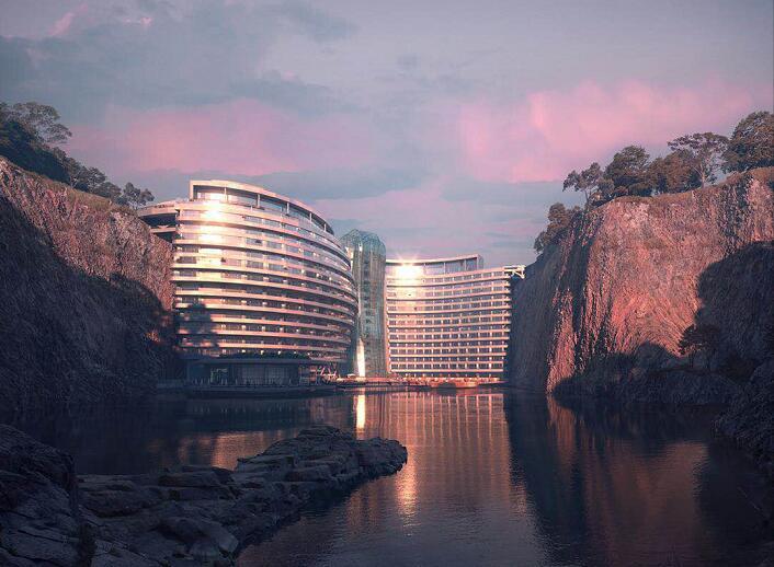 """世茂深坑酒店,变城市""""伤痕""""为建筑瑰宝"""