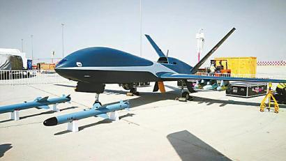 """我国首款高空高速外贸无人机亮相迪拜航展 神秘""""云影""""高调走出国门"""