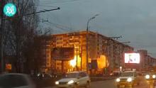 俄罗斯一居民楼煤气爆炸,九层楼瞬间夷为平地