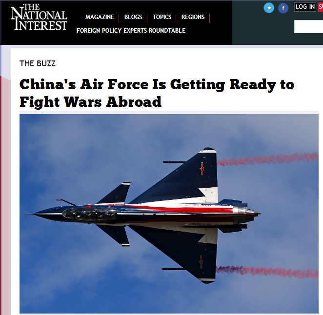 """美媒:中国空军已经做好了在国外""""作战""""的准备!"""
