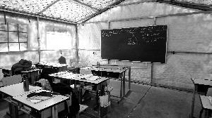 北京一无资质学校帐篷当教室 教官打人家长报警
