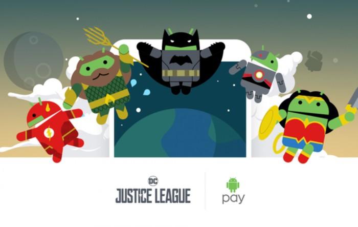 "Android Pay推""正义联盟""机器人收集活动"