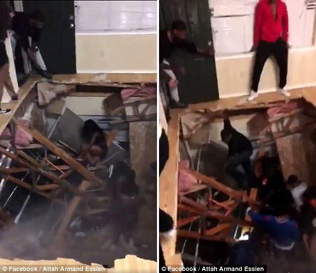 美大学公寓举行派对 地板坍塌致数十人跌落