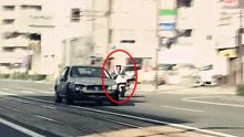 日本女司机市区暴走冲撞行人警察追捕1小时