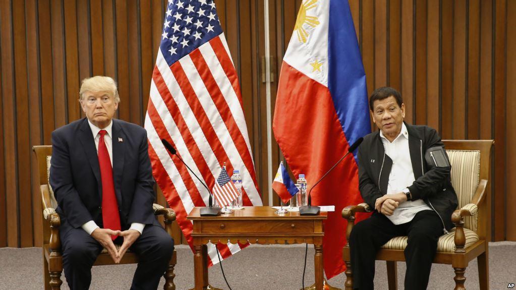 特朗普称菲律宾在亚太战略位置完美 双边关系重回正轨