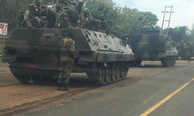 津巴布韦军方否认政变并称穆加贝安全 系为清除其身边犯罪分子