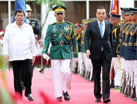 李克强同菲律宾总统杜特尔特举行会谈