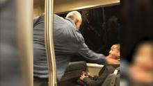 """现场:白人男子辱骂亚裔乘客:你个""""黑鬼"""" 黑人女子劝阻"""