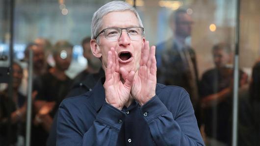 苹果市值明年达1万亿美元:中国市场系关键因素