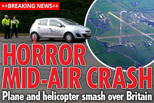 快讯!英一直升机与小型飞机相撞 恐数人遇难